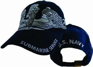 US Navy Submarine Service Enlisted Cap,Blue,One Size Fits Most