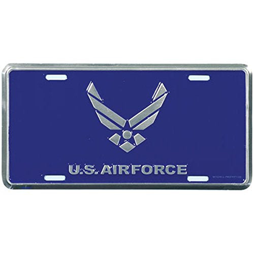 Honor Country Air Force Emblem License Plate