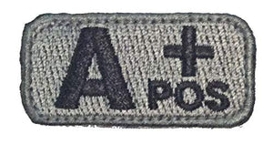 A POSITIVE Blood Type Patch - FOLIAGE GREEN