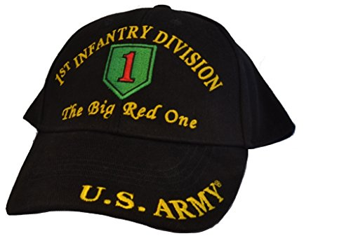 Men's 1st Infantry Division Embroidered Ball Cap Adjustable Black