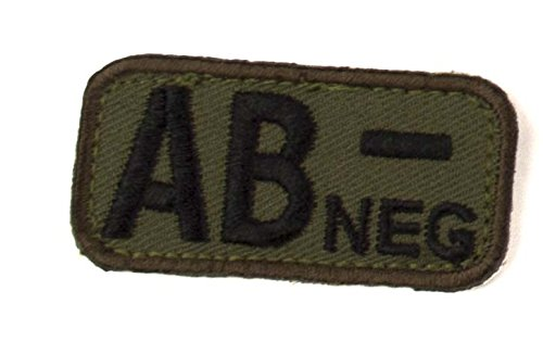 AB NEGATIVE Blood Type Patch - WOODLAND