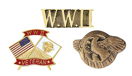 World War II Pins - Novelty Hat Pin 3 PACK