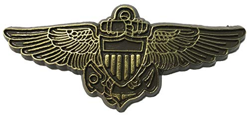 Gold Navy Aviator Wings Small Cut-Out Magnet