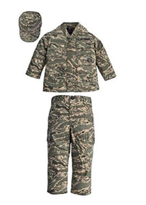 Trooper Clothing Kids Air Force ABU Tigerstripe Camo Uniform - 3 Piece Set