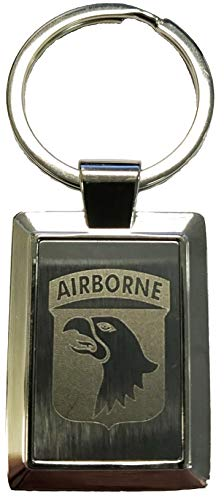 101st Airborne Logo Laser Etched Key Chain