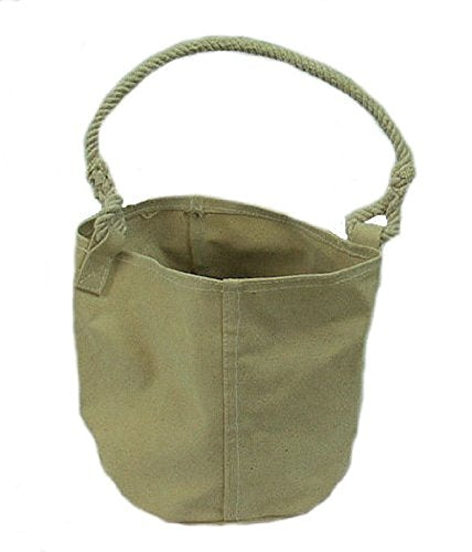 Civil War Era Rope Handle Canvas Bucket