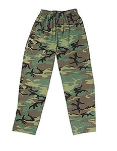 CLEARANCE - Kids Lounging Pants Woodland Camouflage