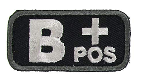 Blood Type Patches - Mil-Spec Monkey BLACK (B+ POSITIVE)