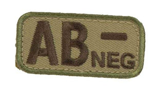 AB NEGATIVE Blood Type Patch - MULTICAM OCP