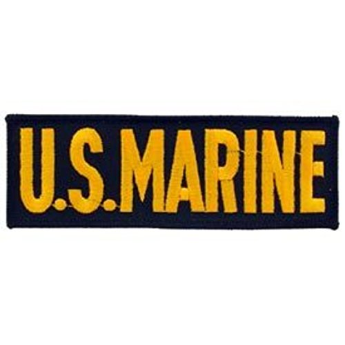Eagle Emblems PM0238 Patch-USMC,Tab (Gld/Blk) (5.25 inch)