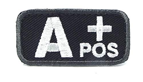 Blood Type Patches - Mil-Spec Monkey BLACK (A+ POSITIVE)