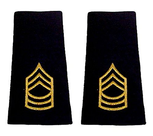 Army Uniform Epaulets - Shoulder Boards E-8 MASTER SERGEANT