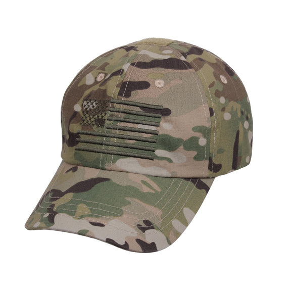 Rothco Tactical Operator Cap With U.S. Flag Multicam