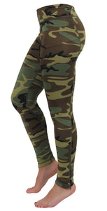Rothco Womens Camo Performance Workout Leggings - WOODLAND CAMO