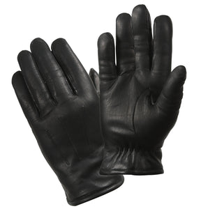 Rothco Cold Weather Leather Police Gloves - BLACK