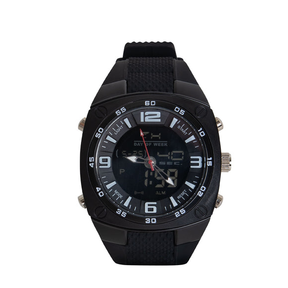 Rothco XLarge Military Style Analog & Digital Display Watch Black