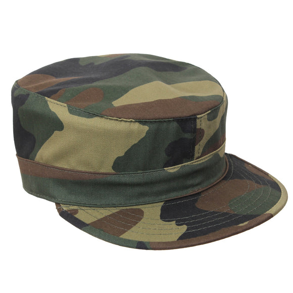 Rothco Adjustable Camo Fatigue Cap Woodland Camo