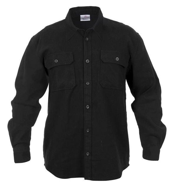 Heavy Weight Solid Flannel Shirt - Various Colors