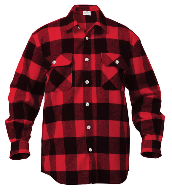 Rothco Extra Heavyweight Buffalo Plaid Flannel Shirt - Various Colors