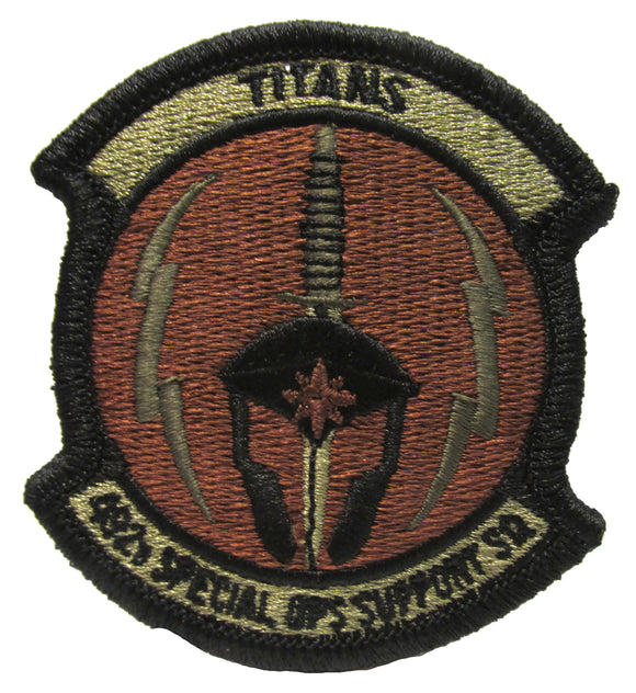 492nd Special Operations Support Squadron OCP Patch - Spice Brown