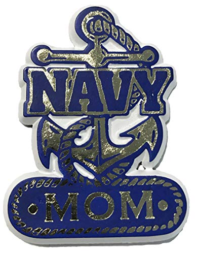 Navy Anchor Mom Small Cut-Out Magnet