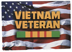 American Flag with Vietnam Veteran Ribbon