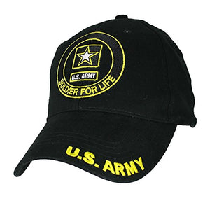 Eagle Crest U.S. Army Soldier For Life Baseball Cap. Black