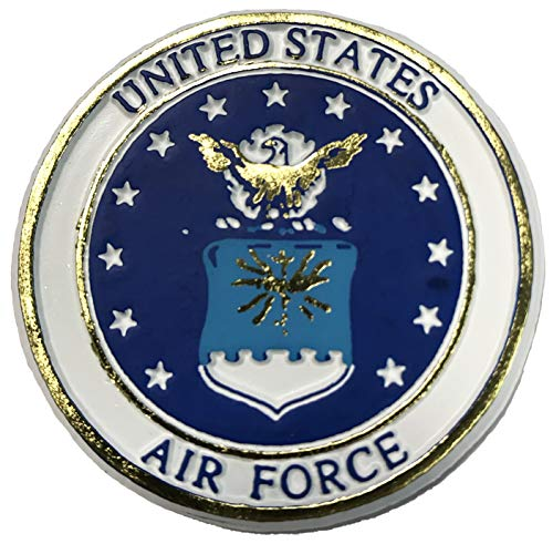 United States Air Force Crest Small Round Magnet