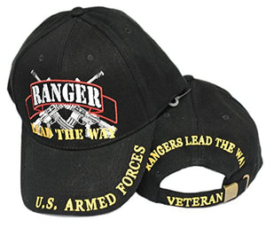 United States Army Rangers LEAD THE WAY Black Hat Cap USA