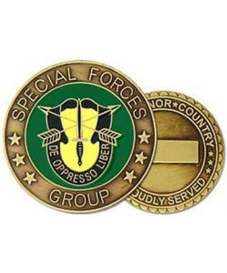 Special Forces Group, De Oppresso Liber, 2 Sided, Bronze Engravable Challenge Coin (HMC 22329)