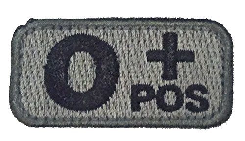 O POSITIVE Blood Type Patch - FOLIAGE GREEN