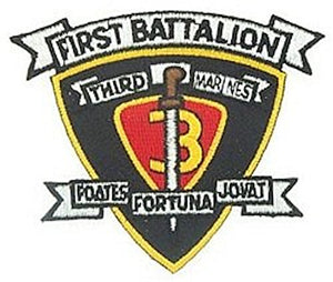 1st BN 3rd Marine Small Patch