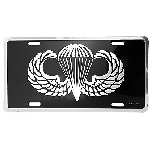 Honor Country Army Paratrooper License Plate