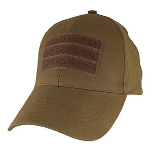 Eagle Crest Blank Baseball Hat With Hook and Loop Front, Coyote Brown