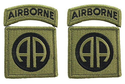 82nd Airborne Division OCP Patch with Airborne Tab - 2 PACK