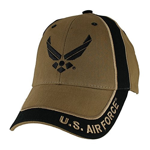 U.S. Air Force Wings Two Tone Baseball Hat, Coyote Brown