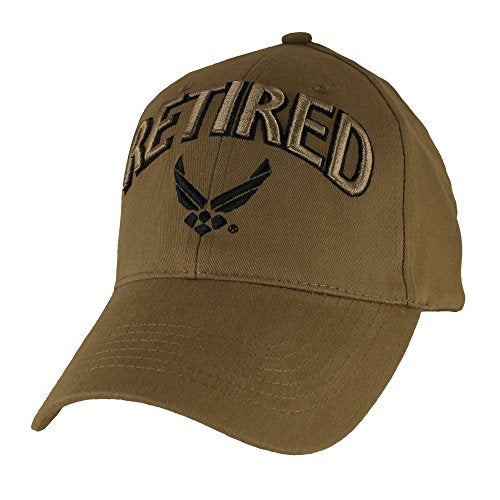 U.S. Air Force Retired Baseball Hat, Coyote Brown