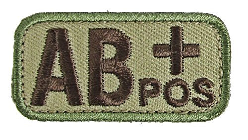 AB POSITIVE Blood Type Patch - MULTICAM OCP