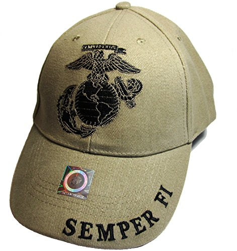United States Marine Logo Eagle Subdued Hat Cap USMC Tan One Size