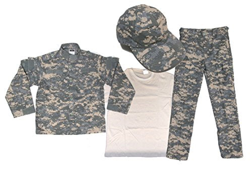 Kids ACU Uniform 4 Piece Set - Kids Military Costume