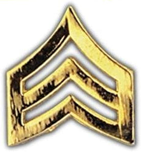 Army SGT Stripes GOLD Small Hat Pin