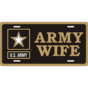 Honor Country Army Wife License Plate, Army Star