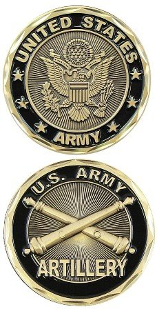 U.S. Army Artillery Unit Challenge Coin