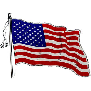 Waving U.S. Flag Clear Decal