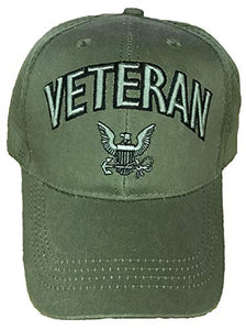 Eagle Crest U.S. Navy Veteran Olive Drab Hat