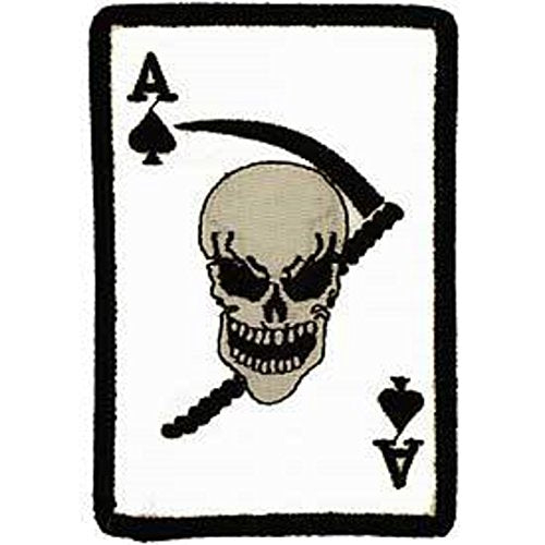 Eagle Emblems PM0009 Patch-Death Ace,Spade (3.75 inch)
