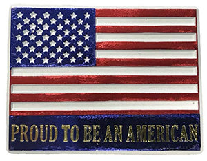 "American Flag ""Proud to be an American"" Magnet"
