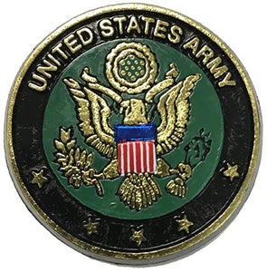 United States Army Crest Small Round Magnet