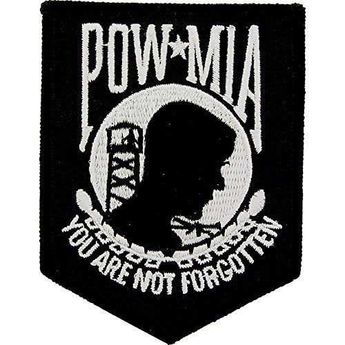 Eagle Emblems PM0063 Patch-Powmia (Black) (3.5 inch)