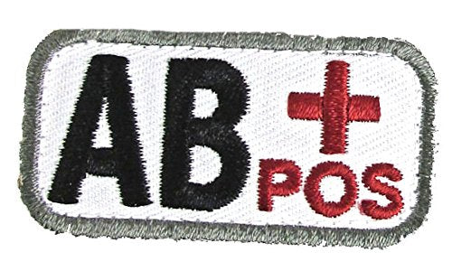 AB POSITIVE Blood Type Patch - MEDICAL